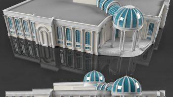 دانلود آبجکت نمای ساختمان کلاسیک