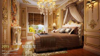 دانلود صحنه آماده اتاق خواب به سبک اروپایی
