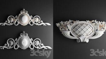 دانلود مدل سه بعدی گچبری و نما رومی