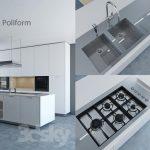دانلود 5 صحنه آماده طراحی آشپزخانه کلاسیک و مدرن