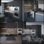 صحنه آماده طراحی آشپزخانه