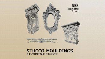 دانلود مدل سه بعدی تزئینات نما کلاسیک