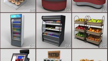 دانلود آبجکت وسایل فروشگاه مواد غذایی