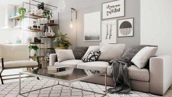 دانلود مدل سه بعدی آپارتمان اسکاندیناوی
