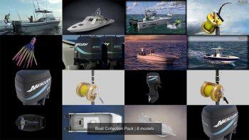 دانلود آبجکت قایق از CGTrader