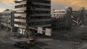 دانلود مدل سه بعدی شهر تخریب شده