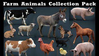 دانلود مدل سه بعدی حیوانات مزرعه