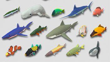 دانلود مدل سه بعدی ماهی انیمیت شده