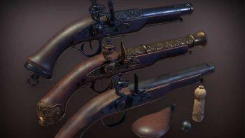 دانلود مدل سه بعدی اسلحه قدیمی
