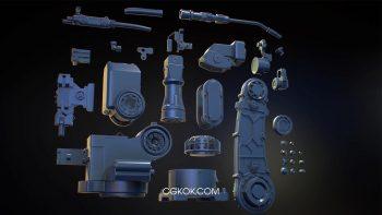 دانلود مدل سه بعدی بازوی ربات صنعتی