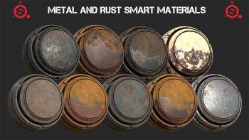 دانلود متریال فلز زنگ زده برای سابستنس پینتر