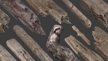 دانلود مدل سه بعدی چوب اسکن شده