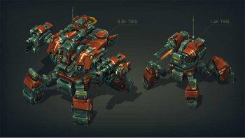 دانلود مدل سه بعدی ربات جنگی