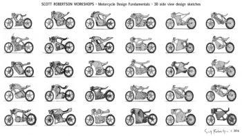 آموزش طراحی و اسکچ موتور سیکلت در sketchbook