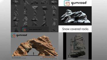 دانلود مدل سه بعدی سنگ و صخره