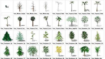 دانلود آبجکت درخت برای اسکچاپ