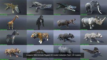 دانلود آبجکت حیوانات انیمیت شده