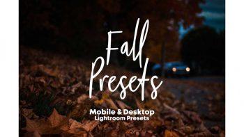 پریست نسخه موبایل و ویندوز لایت روم – Fall Presets 2018 – Lightroom Preset