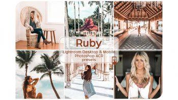 پریست رنگ فتوشاپ و لایت روم – Ruby Lightroom Presets
