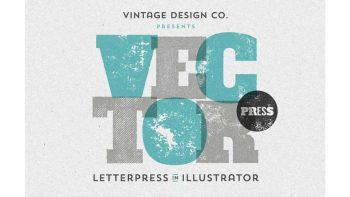 افکت چاپ برای ایلستریتور – VectorPress: Illustrator Letterpress
