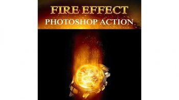 اکشن افکت آتش فتوشاپ – Fire Effect Photoshop Action