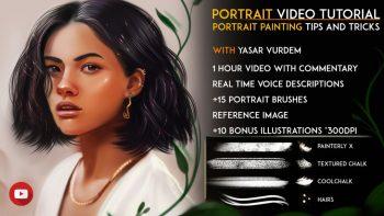 آموزش نقاشی دیجیتال پرتره دختر در فتوشاپ
