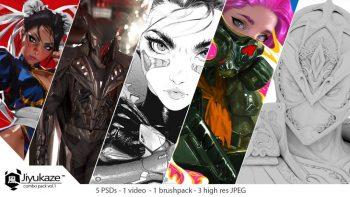 آموزش طراحی و نقاشی دیجیتال کاراکتر زن جنگجو در فتوشاپ
