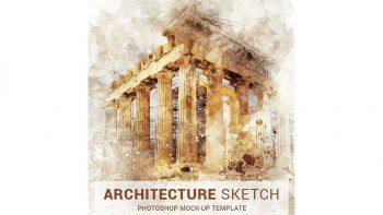 دانلود اکشن تبدیل عکس به اسکیس معماری در فتوشاپ