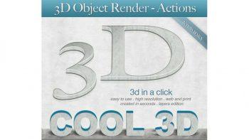 دانلود اکشن ساخت متن سه بعدی 3D Object Render