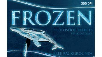 اکشن ایجاد افکت یخ برای فتوشاپ – FROZEN Photoshop Effects+Action