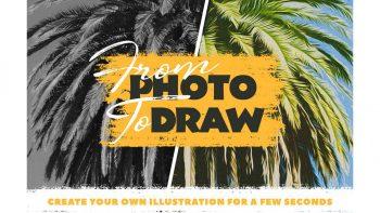 اکشن تبدیل عکس به نقاشی در فتوشاپ – From Photo To Draw