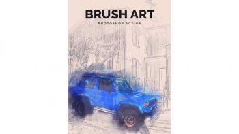 دانلود اکشن قلمو نقاشی فتوشاپ Brush Art Photoshop Action