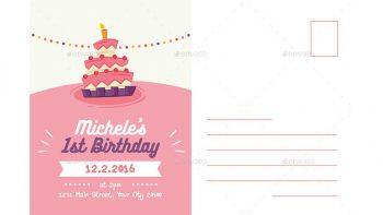 دانلود فایل لایه باز کارت دعوت جشن تولد Colorful Birthday Invitation