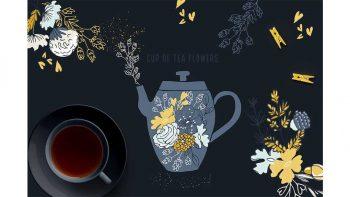 دانلود کلیپ آرت گل Cup of Tea Flowers