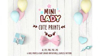 دانلود پترن و کلیپ آرت کودک Cute vector prints for baby apparel