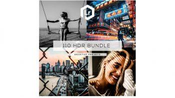 مجموعه 110 پریست اچ دی آر لایت روم – HDR Bundle Lightroom Presets