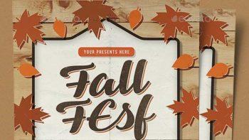 دانلود فایل لایه باز آگهی حراج پاییزی Fall Festival Vol.3