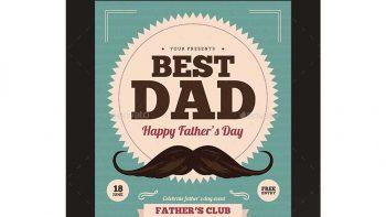دانلود فایل لایه باز مخصوص روز پدر Father's Day Flyer