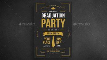 دانلود فایل لایه باز کارت دعوت جشن فارغ التحصیلی Graduation Party Invitation