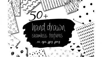 دانلود تکسچر و پترن با طراحی دستی hand drawn seamless textures