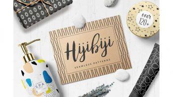 دانلود پترن با طراحی دستی Hijibiji Seamless Patterns