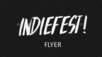 دانلود فایل لایه باز کنسرت موسیقی Indiefest Flyer