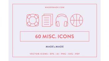 دانلود آیکون خطی Line Icons – Miscellaneous Icons