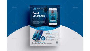 دانلود فایل لایه باز آگهی تبلیغاتی اپلیکیشن موبایل Mobile App Flyer Template