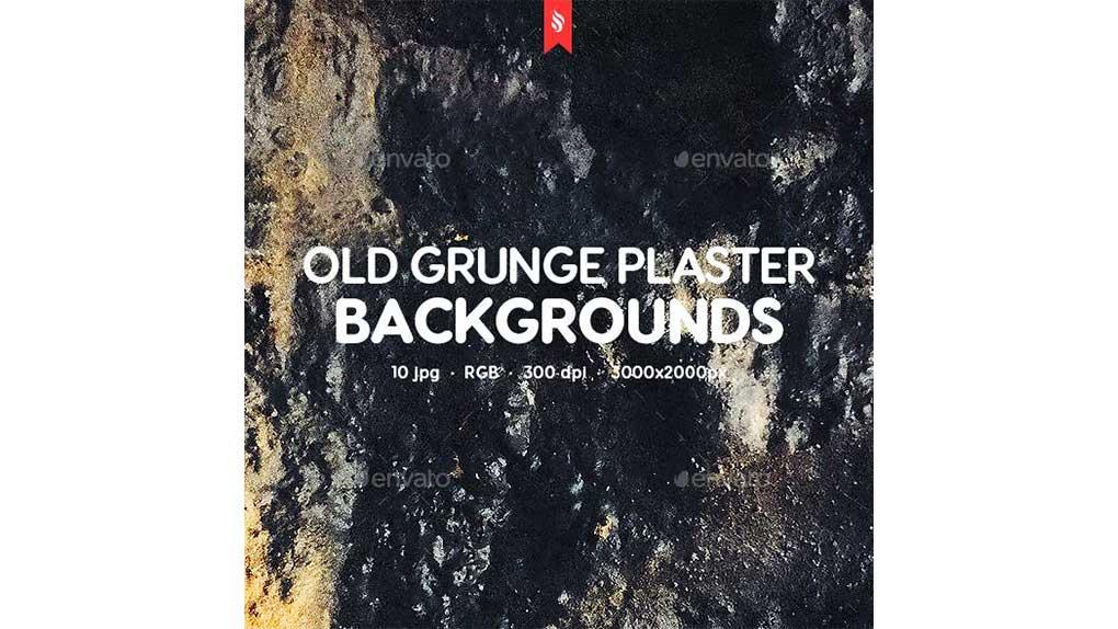 دانلود تکسچر قدیمی و کثیف از بافت گچ Old Grunge Plaster Texture Backgrounds