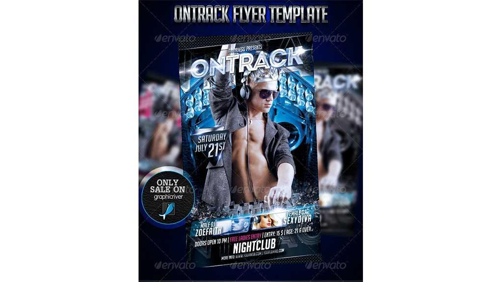 فایل لایه باز آگهی Ontrack Flyer Template