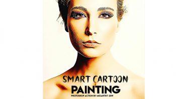 اکشن افکت کارتونی برای فتوشاپ – Smart Cartoon Painting Photoshop Action