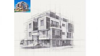 اکشن اسکیس معماری فتوشاپ – Pencil Architecture Sketch Photoshop Action