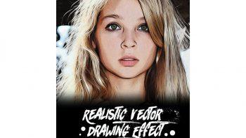 دانلود اکشن نقاشی برای فتوشاپ – Realistic Vector Drawing Effect