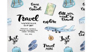 دانلود کلیپ آرت آبرنگی سفر Travel